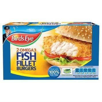 Birds Eye 2 Omega 3 Fish Fillet Burgers 227G 2S Case Of 8