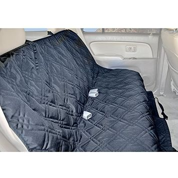 Backseat Protector for Any Car, Truck and SUV. Made of Waterproof, Scratch Resistant, Machine Washable, Non-Slip Material by Rumbi Baby. []