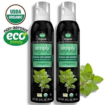 Simply Beyond, Organic Spray-On Herbs, Oregano, 3 Fl. Oz. (Oregano, 2 Pack)
