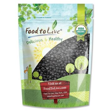 Organic Dried Blueberries — Non-GMO, Kosher, Unsulfured, Bulk, Lightly Sweetened, (by Food to Live) 2 pound