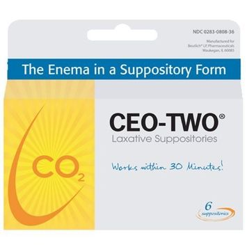 LAXATIVE SUPPOSITORIES 6/BX BEUTLICH CEO-TWO LAXATIVE SUPPOSITORIES