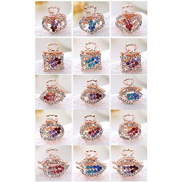 15pcs Boutique Hair Clips Ribbon for Women, Female's Metal of Fashion and Special design Barrettes and hairpin