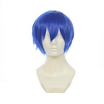 Cfalaicos Mens/Boys Natural Daily Hair, Durarara Orihara Izaya Cosplay Costume Wig Short Layered Black Wig