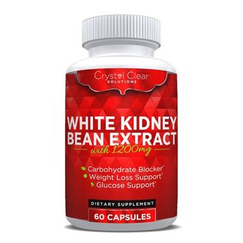 Pure White Kidney Bean Extract Pills, Carb Blocker for Weight Loss Starch Block Diet, Extreme Quick Fat Absorber and Blockers, 60 Caps, 1 Month Supply