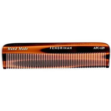 Fendrihan Hand Finished Fine Tooth Pocket Comb for Men, Faux Tortoise (5 Inches)