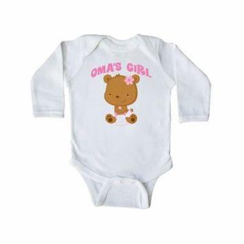 Oma's Girl grandchild gift Long Sleeve Creeper