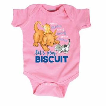 Biscuit the Little Yellow Puppy Lets Play-INFANT One Piece-NB
