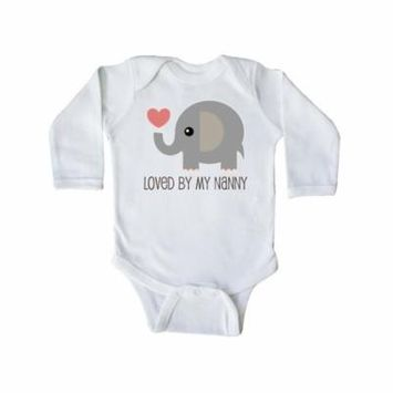 Loved By Nanny grandchild Long Sleeve Creeper