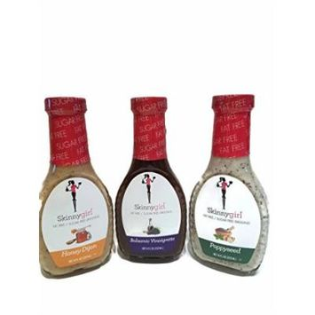 Skinnygirl Dressing Variety Pack Of 3 Bottles, One Honey Dijon 8 oz Bottle, One Poppyseed 8 oz Bottle, One Balsamic Vinaigrette 8 oz Bottle