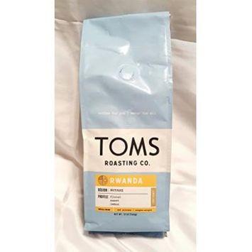 Toms Roasting Co. Coffee 2 - 12 oz Bags (Rwanda Whole Bean)
