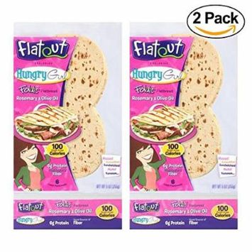 Flatout Hungry Girl Foldit Flatbread Rosemary and Olive Oil (2 Pack)