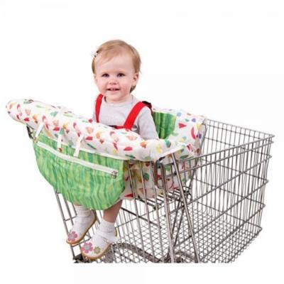 eric carle the very hungry caterpillar shopping cart and hi chair cover, baby cart cover, grocery shopping cart seat cover, hi chair cushion, safety harness, loops for toys, compact storage pouch,