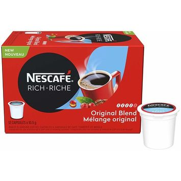 Nescafe Rich Original Coffee Capsules, 12 x 10.5g, (Imported from Canada)