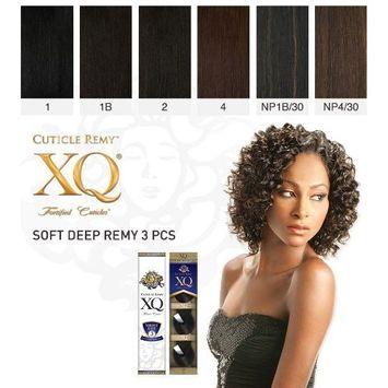 Cuticle XQ Remy SOFT DEEP REMY 3pcs (NP1B/30 - OFF BLACK/MED AUBURN)