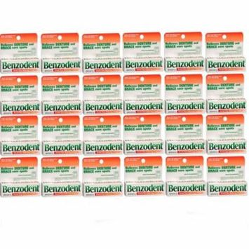 24 Pack Benzodent Denture Ointment - 0.25 Oz Each