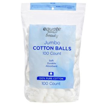 Wal-mart Stores, Inc. Equate Beauty Jumbo Cotton Balls, 100 count