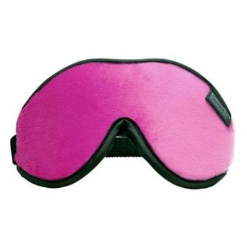 Escape Luxury Travel Sleep Mask, Carry Pouch & Earplugs Hot Pink