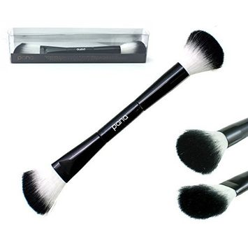 Pana Soft Premium Quality Two-in-one Contour, Highlight & Shade Brush . Two Side End Multi-Functional Brush Perfect For Professional Makeup Tool.