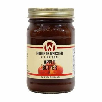House of Webster All Natural Apple Butter Fruit Spread 16.5 oz