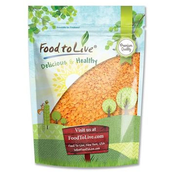 Red Split Lentils by Food to Live (Dry Beans, Raw, Kosher, Bulk) — 5 Pounds