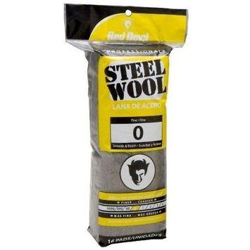 Red Devil 0313 Steel Wool, 0 Fine, (Pack of 16)