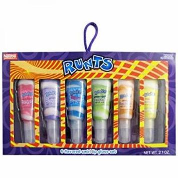 Runts 6 Flavored Glitter Lip Gloss Set