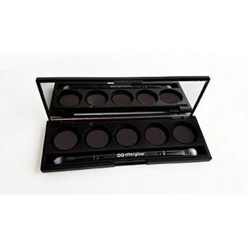Magnetic Eye Shadow Palette with Mirror, Duo Vegan Eye Shadow Brush [five 26mm pan wells]