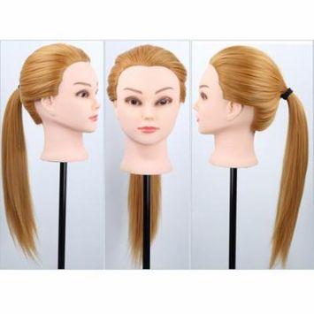 Bestmall 30 % Real Human Hair Long Hair Hairdressing Training Model Head Model Mannequin Head for Salon Practice 24