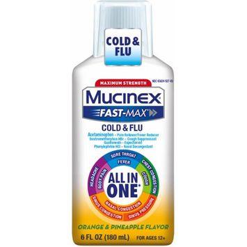 Mucinex® Fast-Max Maximum Strength All-In-One Cold & Flu Orange & Pineapple