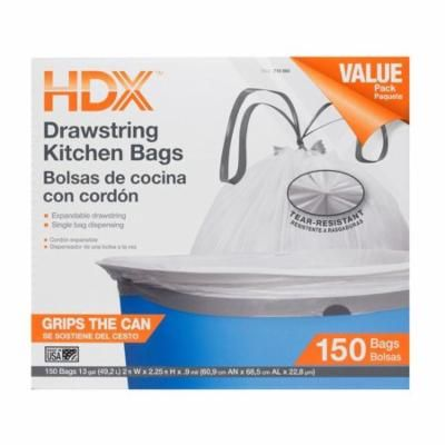 Hdx White Trash Bag 13 Gal Kitchen Drawstring Garbage