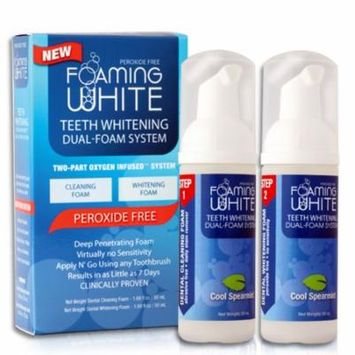 Always White Powerfull Foaming White System (2 Steps !) Teeth whitening Kit PEROXIDE - FREE ! Made in USA!