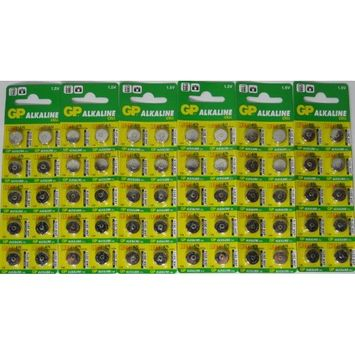 GP A76 LR44 AG13 Alkaline Cell 1.5V Alkaline Button Cell Battery x (60) Batteries