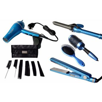 Babyliss Nano Titanium Professional Hair Dryer, Straightening Iron and Curling Iron Combo Kit