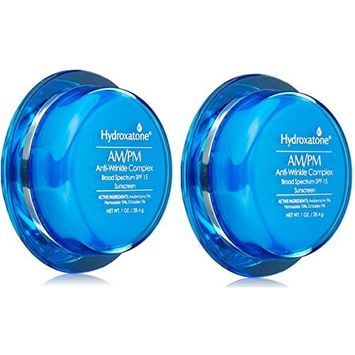 Pack 2, Hydroxatone Treatment Am/Pm Anti-Wrinkle Complex Broad Spectrum SPF 15, 1 oz