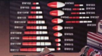 Plastilite BW925 Red/Orange Oval Peg Balsa Float 2.5' QTY 1