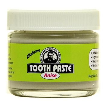 Uncle Harry's Fluoride Free Toothpaste - Anise (3 oz glass jar) … (2)