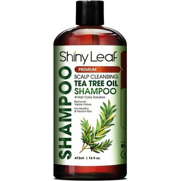 Tea Tree Shampoo With Essential Tea Tree Oil Anti Dandruff Shampoo, Removes Dandruff and Flakes, Scalp Remedy, Deep Cleansing, Soft and Smooth Hair, 16 Fl. Oz