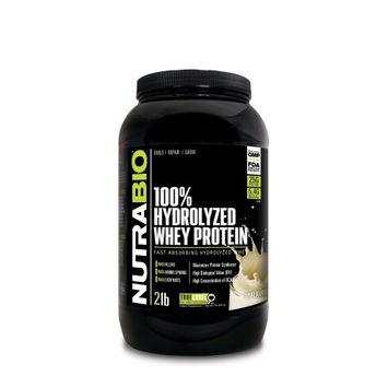 Nutra Bio NutraBio Hydrolyzed Whey Protein Powder, Unflavored, 2 Lb