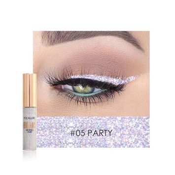 5 Colors Available Shimmer Glitter Eyeshadow Diamond High Pearl Eyeliner & Eyeshadow Pen by Fenleo