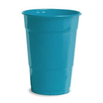 Turquoise Plastic Cups 16oz Solid 240ct