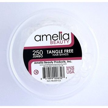 Amelia Beauty Products 250 Count Jumbo TANGLE FREE Elastic Pony Tail Holders