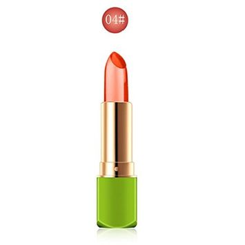 Crystal Jelly Lipstick, Lotus.flower Magic Temperature Change Lip Balm Moisturizing & Nourishing Lip Makeup - 5 Colors Are Available for Choice