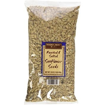 Trader Joe's Roasted & Salted Sunflower Seeds 16Oz
