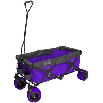 Creative Outdoor Fold Wagon All Terrain PurpGry