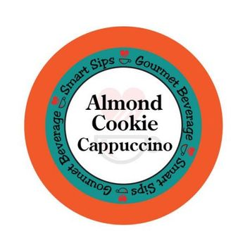 Smart Sips Coffee Almond Cookie Cappuccino, 72 Count, Single Serve Cups Compatible With All Keurig K-cup Brewers