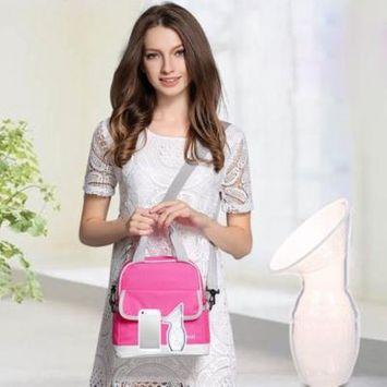 Breast Pump Portable Silicone BPA-free Hospital Grade Manual Breast Pump Lightweight