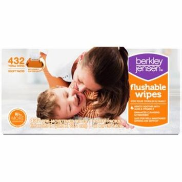 Berkley Jensen Family & Toddler Moist Flushable Wipes, 432 ct. (baby wipes - Wholesale Price