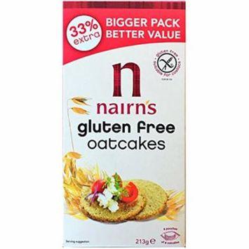 Nairn's Gluten Free Scottish Oatcake Crackers 213g (7.51 oz) | 4 Packs Total 852g