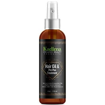 Kadima Hair Oil and Pre Poo Treatment Infused with 8 Amazing Oils. Deeply moisturize damage and brittle hair 100% essential oils 4 oz