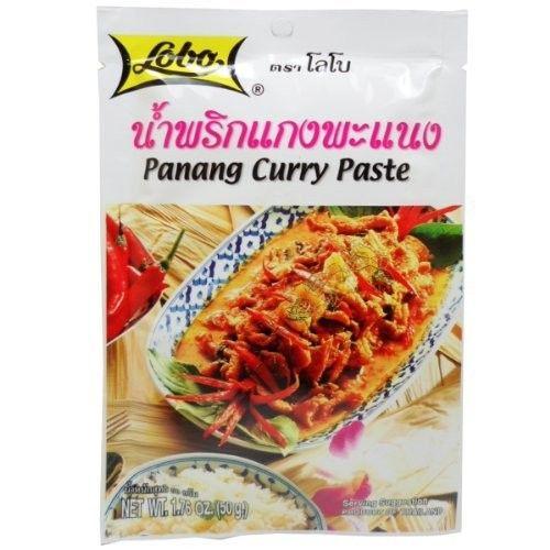 Lobo Panang Curry Paste 50 G (1.76 Oz) Thai Herbal Food X 4 Bags